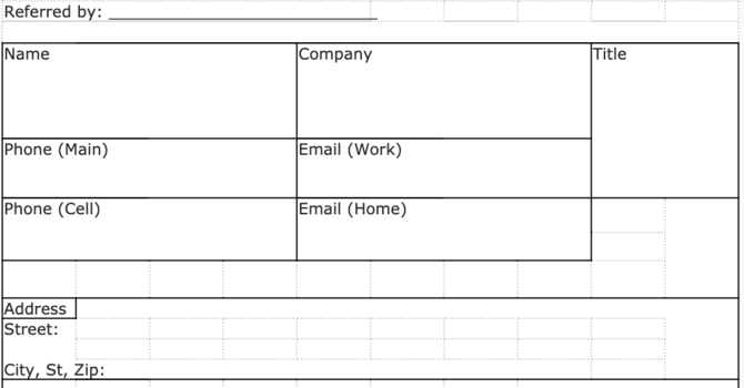 Item 4 - Referral Tracking Spreadsheet